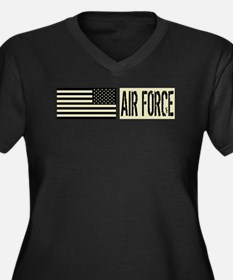 U.S. Air For Women's Plus Size V-Neck Dark T-Shirt