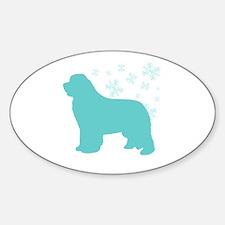 Newfoundland Snowflake Oval Decal