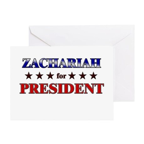 ZACHARIAH for president Greeting Card