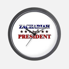 ZACHARIAH for president Wall Clock