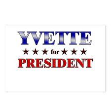 YVETTE for president Postcards (Package of 8)
