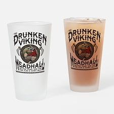 The Drunken Viking Mead Hall Drinking Glass