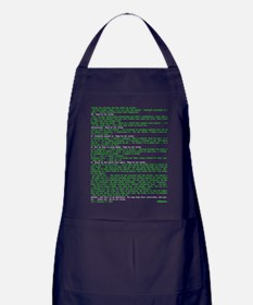 Hackers Manifesto Black Shirt Apron (dark)