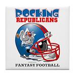 Fantasy Football - Republicans Tile Coaster