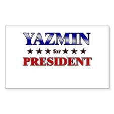 YAZMIN for president Rectangle Decal