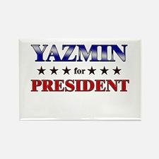 YAZMIN for president Rectangle Magnet