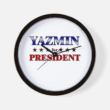 YAZMIN for president Wall Clock