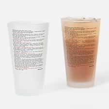 Hackers Manifesto Shirt Drinking Glass