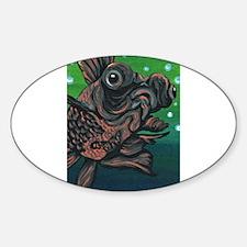 Black Moor Gold Fish Decal