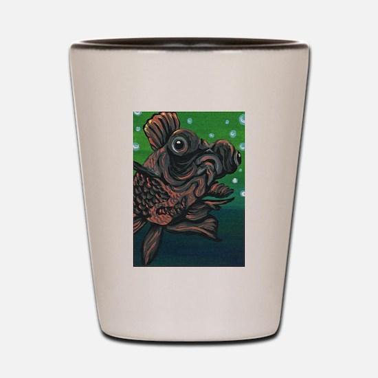 Black Moor Gold Fish Shot Glass