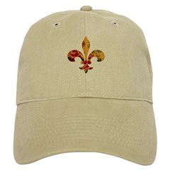 Floral Fleur de lis (4) Baseball Cap