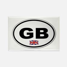 Cute Travel uk Rectangle Magnet