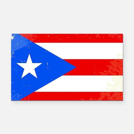Unique Puerto rico flag Rectangle Car Magnet