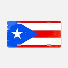 Cute Puerto rico flag Aluminum License Plate
