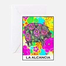 La Alcancia Greeting Card