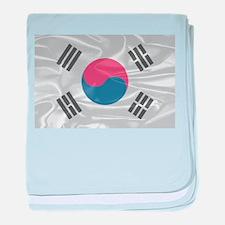 South Korean Silk Flag baby blanket