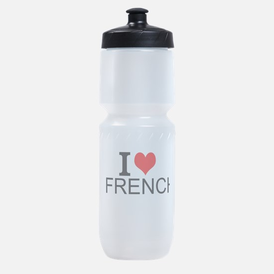 I Love French Sports Bottle