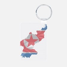 North Korean Flag Map Keychains