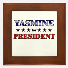 YASMINE for president Framed Tile