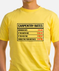 Carpentry Rates T-Shirt