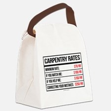 Carpentry Rates Canvas Lunch Bag
