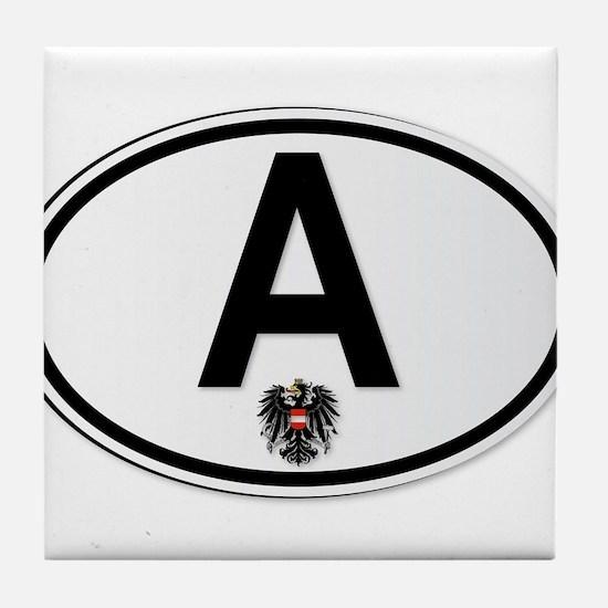 Austrian A Plate Tile Coaster
