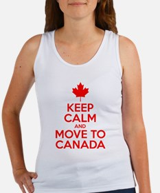 Keep Calm and Move to Canada Tank Top