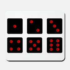 Six Black Dice Sides Mousepad