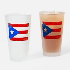 Puerto Rico Flag Drinking Glass