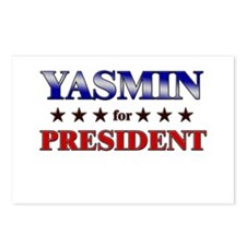 YASMIN for president Postcards (Package of 8)