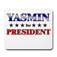 YASMIN for president Mousepad