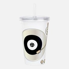 Record Player Acrylic Double-wall Tumbler