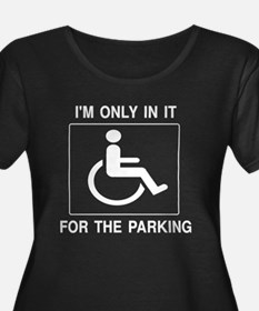 In It For The Parking - Dark Shirt Plus Size T-Shi