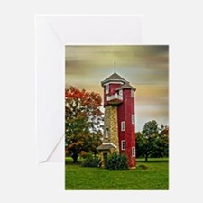 Autumn Water Tower Greeting Cards