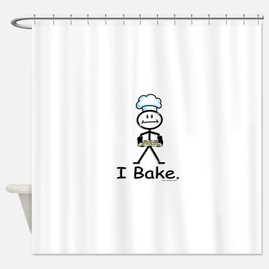 Baking Stick Figure Shower Curtain