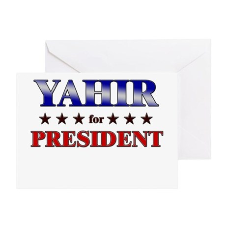 YAHIR for president Greeting Card