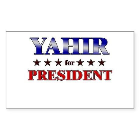 YAHIR for president Rectangle Sticker
