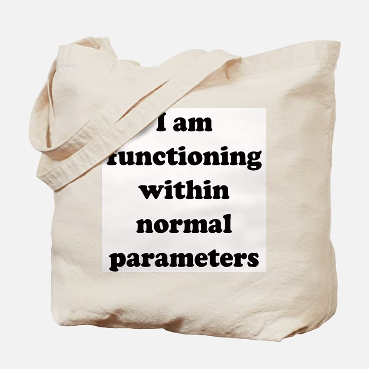 Normal Parameters Tote Bag
