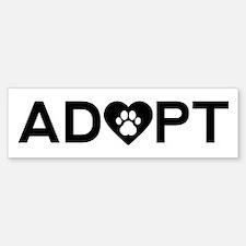 Adopt Save A Pet Bumper Bumper Bumper Sticker