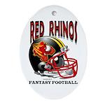 Red Rhinos Fantasy Football Keepsake (Oval)