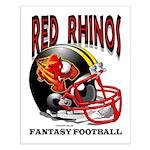 Red Rhinos Fantasy Football Small Poster