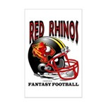 Red Rhinos Fantasy Football Mini Poster Print