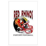 Red Rhinos Fantasy Football Large Poster