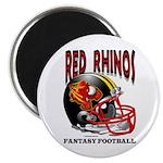 Red Rhinos Fantasy Football Magnet