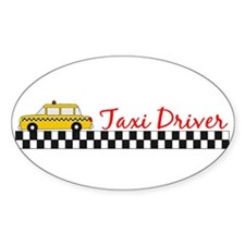 Taxi Driver Oval Decal