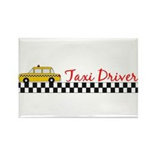 Taxi Driver Rectangle Magnet