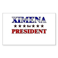 XIMENA for president Rectangle Decal