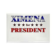XIMENA for president Rectangle Magnet
