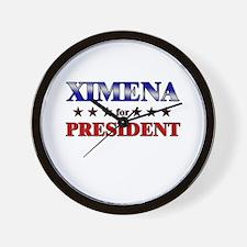 XIMENA for president Wall Clock