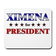 XIMENA for president Mousepad